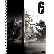 Caderno Universitário Games Ubisoft Rainbow Six 10 Matérias