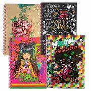 Caderno Universitário 10 Matéria - Capa Dura Em Espiral Girl