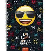 Caderno Universitário 10 Matérias Capa Dura Emoji - Foroni