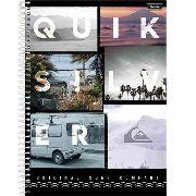 Caderno Universitário 10 Matérias Quiksilver Capa Dura