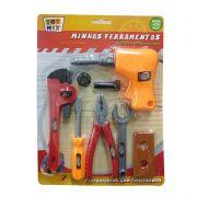 Brinquedo kit de ferramentas construção furadeira alicate