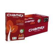 CAIXA c/ 10 RESMAS PAPEL SULFITE CHAMEX A4 OFFICE 210 X 297 75G  - BRANCO