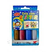 Cola Com Glitter Caixa com 4 Unidades