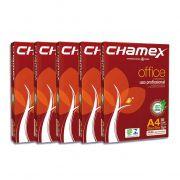 Resma de PAPEL SULFITE CHAMEX A4 OFFICE 210 X 297 75G - Branco 2500 folhas