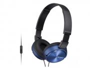 Fone De Ouvido Sony Com Microfone Mdr Zx310 Azul E Branco *
