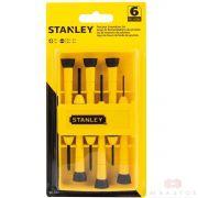 Jogo De Chave De Fenda De Precisão Stanley 66-052 - 6 Peças *