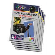 Kit com 5 Pacotes Papel Foto Fotográfico High Adesivo 135g A4 Alta Qualidade 5760 DPI - (Cada Pacote Contem 20 Unidades)