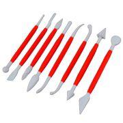 Kit com 8 Peças Conjunto de Ferramenta para Modelar e Decorar Bolos - DASSHAUS