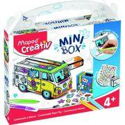 Kit Criativo Mini Box Carro Para Colorir E Montar Maped