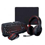 kit gamer 4 em 1 DAZZ - Combo com teclado, mouse, fone e mousepad