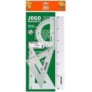 Kit Geométrico De Réguas Com 4 Peças Escolar
