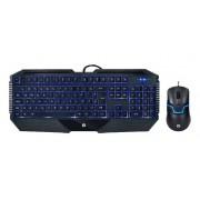 Kit teclado e mouse gamer com fio usb hp iluminação led gk1100 1600dpi