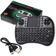 Mini Teclado Sem Fio smart tv box com Led Touch Usb