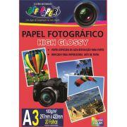 Papel foto A3 180g glossy papel fotográfico brilhante resistente a água 5760 DPI 100 folhas