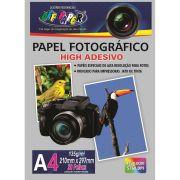 Pacotes Papel Foto Fotográfico High Adesivo 135g A4 Alta Qualidade 5760 DPI - (Pacote Contem 20 Unidades)