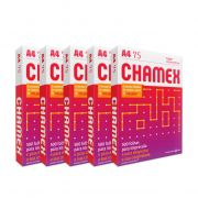 Papel Sulfite Chamex Office 210mm x 297mm 75g A4 - 2500 Folhas (5 resma)