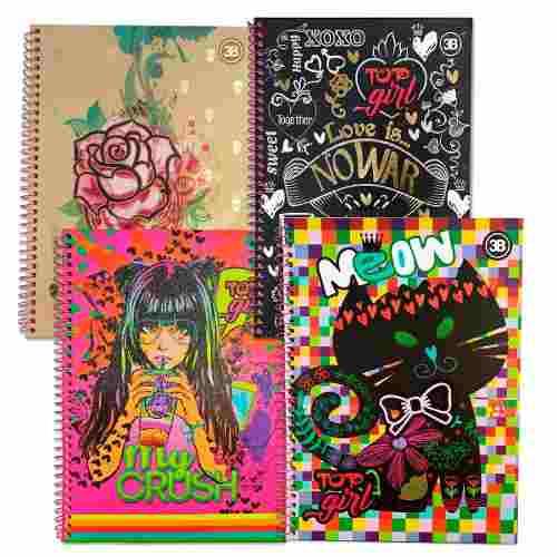Caderno Universitário 96 Folha Capa Dura 1 Matéria Top Girl