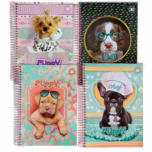 Caderno Universitário 10 Matérias Capa Dura - Cachorro Puppy
