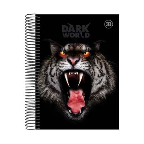 Caderno Dark World 10 Matérias 200 Folha Capa Dura - Feras