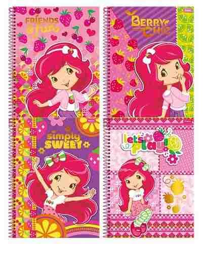 Caderno Little Princess 1 Materia 96 Folha Capa Dura Espiral