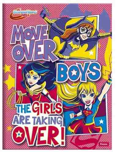Caderno Costurado Brochura 1/4 Pequeno Dc Super Hero!