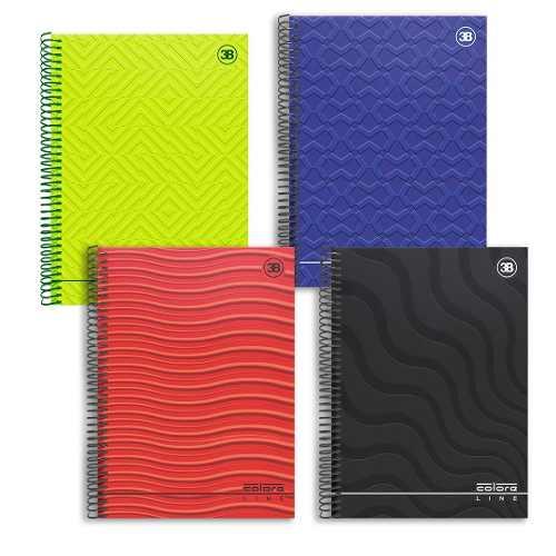 Caderno Universitário 96 Folhas Capa Dura 1 Materia - Color