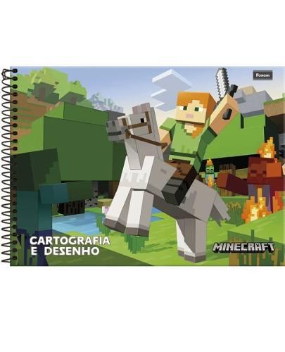 Caderno Para Desenho Jogo Do Bloco Espiral Capa Dura 96 Folhas