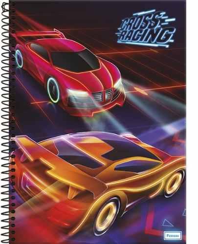 Caderno Universitário Cross Racing 1 Matéria Capa Dura