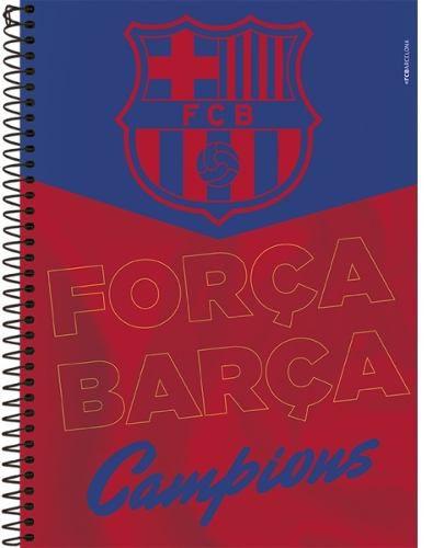 Caderno 10 Matérias Capa Dura Barcelona C/ Adesivos - Foroni