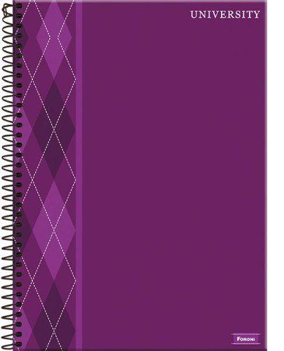 Caderno Universitário University 1 Matéria Capa Dura Foroni