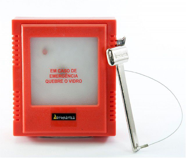 Acionador Caixa Emergência Tipo Quebra Vidro Intelbras