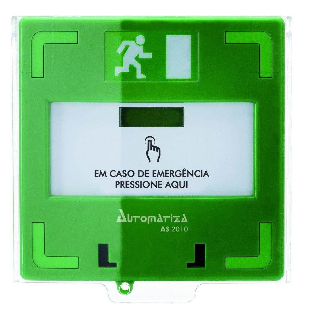Caixa Acionador De Emergência Rearmável As 2010 Automatiza