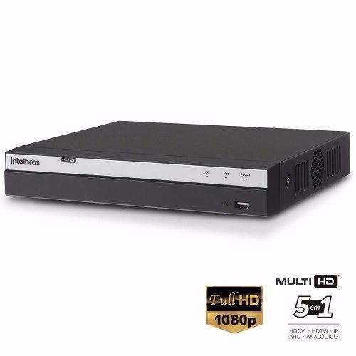 Dvr Stand Alone 16 Canais 3016 Full Hd + HD Purple 3TB 1080p Intelbras Multi