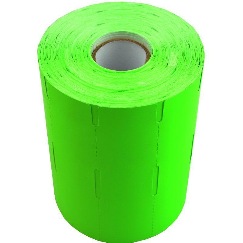 Kit 12 Rolos Etiqueta De Gôndola 110x30 1000 Etiquetas Verde