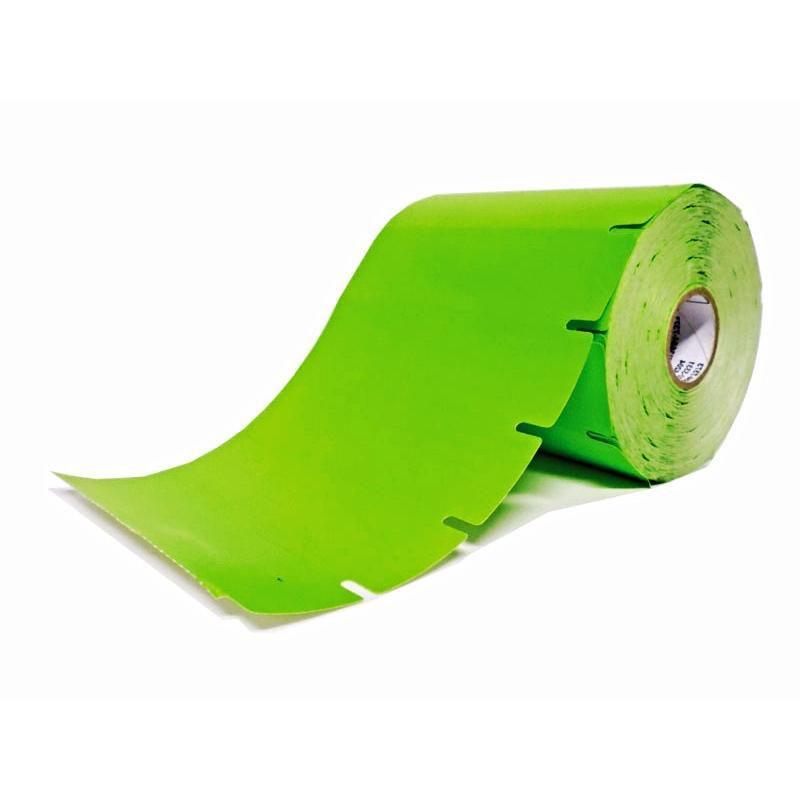 Kit 6 Rolos Etiqueta De Gôndola Verde 110x30 1000 Etiquetas