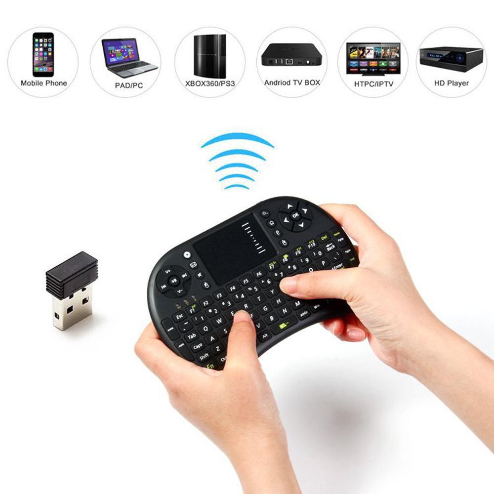 Mini Teclado Sem Fio smart tv box com Led Touch Usb