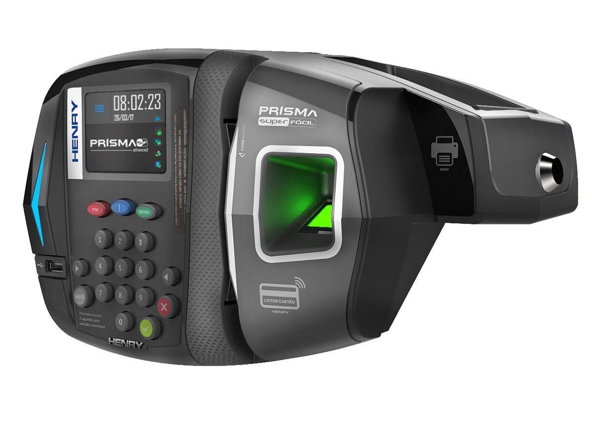 Relógio de ponto biométrico Henry Prisma R2 Advanced