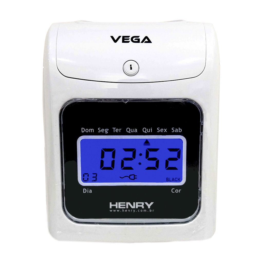 Relógio de ponto cartográfico Henry Vega com visor Azul