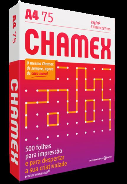Papel Sulfite Chamex Office 210mm x 297mm 75g A4 - pacote com 500 Folhas