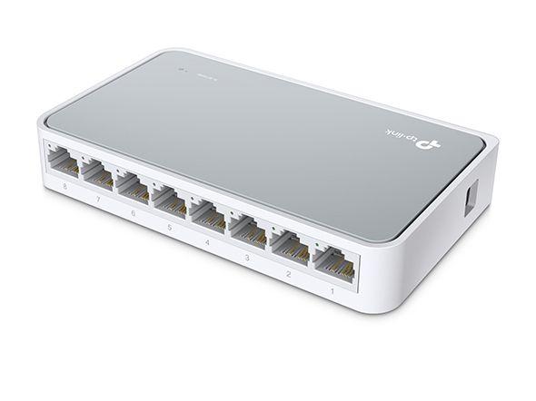 Switch de mesa de 8 portas 10/100Mbps TL-SF1008D