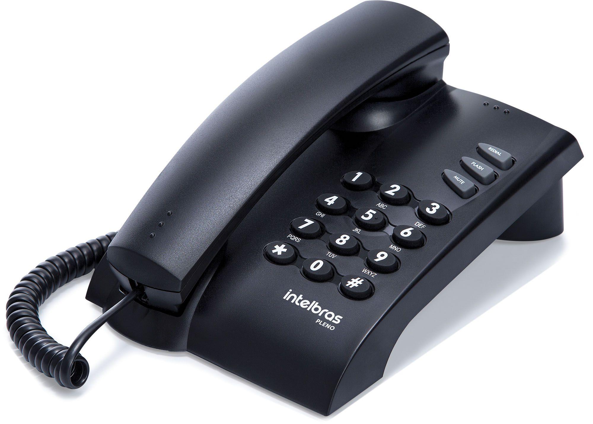 Telefone com Fio Intelbras Pleno - uso em parede ou mesa