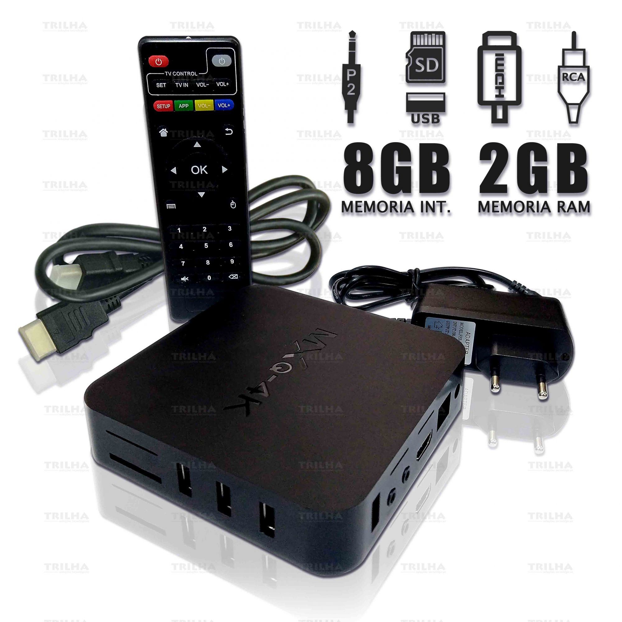 Tv Box 2gb Ram 4k Ultra Android 7.1 + Mini Teclado Bluetooth