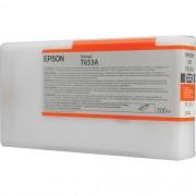 T653A - Cartucho de Tinta Epson UltraChrome HDR 200ml - Laranja