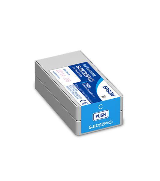 C33S020581 - Cartucho de Tinta Epson SJIC22P 32,5ml - Ciano
