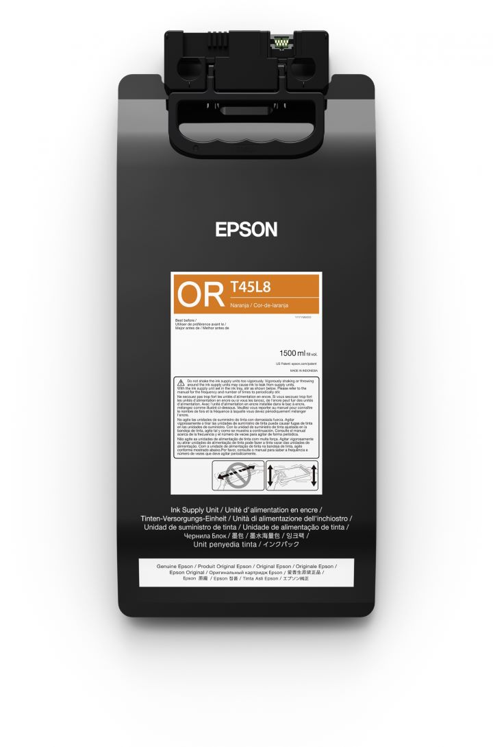 T45L8 - Bolsa de Tinta Epson UltraChrome GS3 1500ml - Laranja