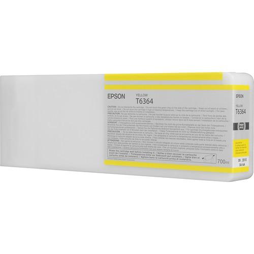 T6364 - Cartucho de Tinta Epson UltraChrome HDR 700ml - Amarelo