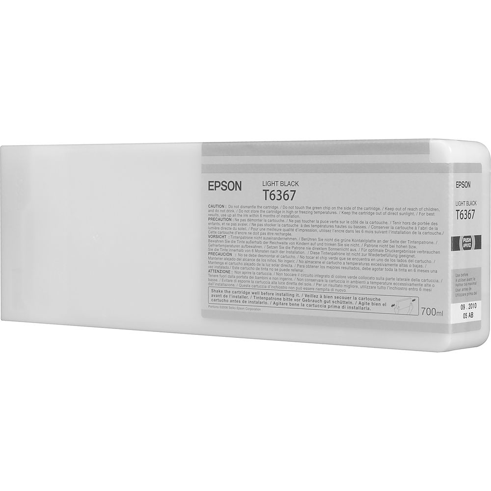 T6367 - Cartucho de Tinta Epson UltraChrome HDR 700ml - Preto Claro