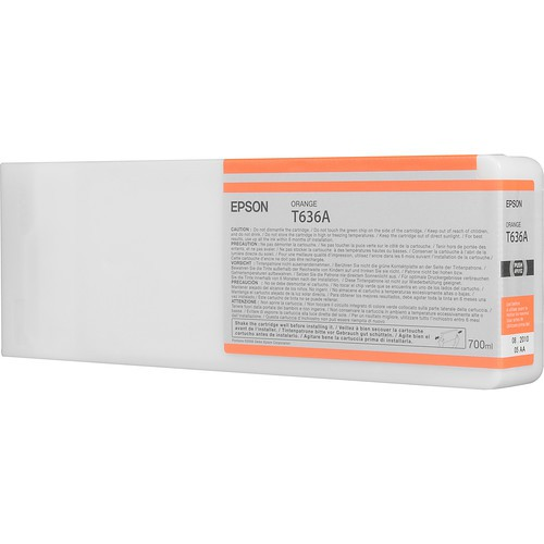 T636A - Cartucho de Tinta Epson UltraChrome HDR 700ml - Laranja