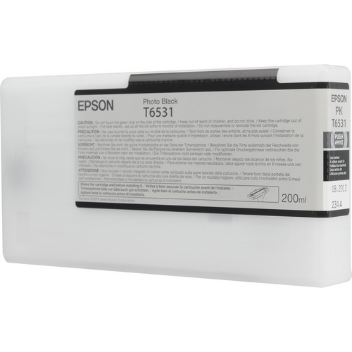 T6531 - Cartucho de Tinta Epson UltraChrome HDR 200ml - Preto Foto