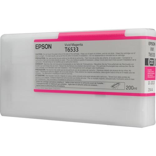 T6533 - Cartucho de Tinta Epson UltraChrome HDR 200ml - Magenta Intenso
